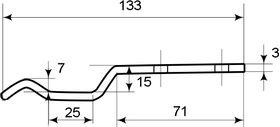 Подножка мебельная 126