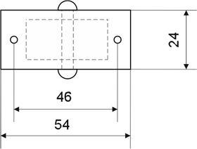 Колесная опора мебельная 153