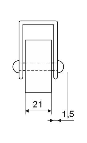 Колёсная опора для мебели